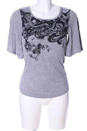 Killah T-Shirt hellgrau-schwarz meliert Casual-Look