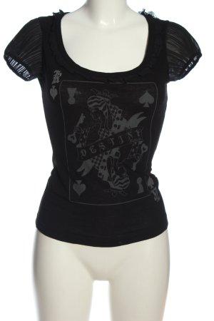 Killah T-Shirt black themed print casual look