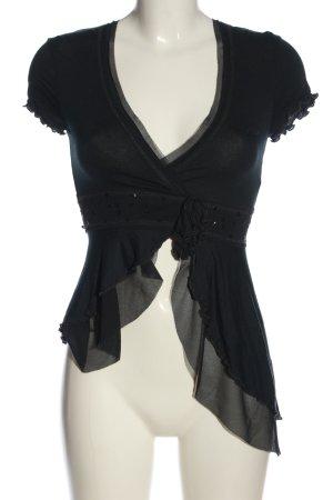 Killah V-Ausschnitt-Shirt schwarz extravaganter Stil