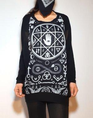 Killstar Pullover transparent Mesh Symbole