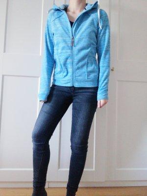 Killtec Kurtka polarowa jasnoniebieski-niebieski neonowy Poliester