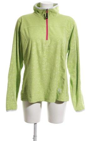 Killtec Fleecepullover grün Allover-Druck schlichter Stil