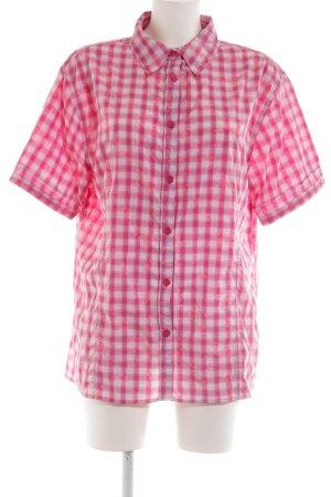 Killtec Kurzarm-Bluse pink-weiß Blumenmuster Casual-Look