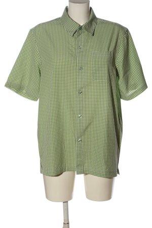 Killtec Camicia a maniche corte bianco-verde motivo a quadri stile casual