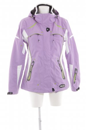 Killtec Outdoorjacke weiß-lila Casual-Look