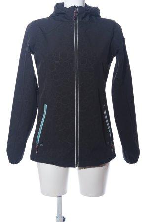 Killtec Sportjacke schwarz-weiß grafisches Muster Casual-Look