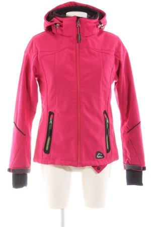 Killtec Sportjacke pink-schwarz Casual-Look