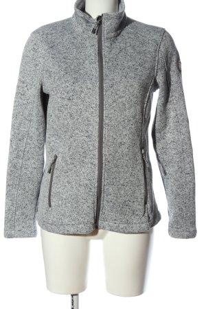 Killtec Giacca in maglia bianco-nero puntinato stile casual