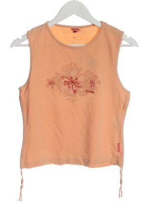 Killtec Canotta arancione chiaro motivo floreale stile casual