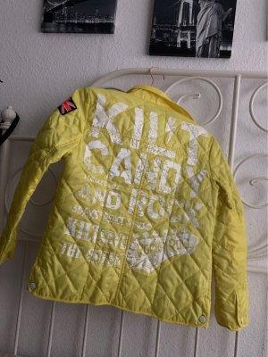 Kilt Chaqueta de motociclista amarillo neón Poliéster