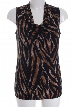 Kim & Co Sleeveless Blouse abstract pattern casual look