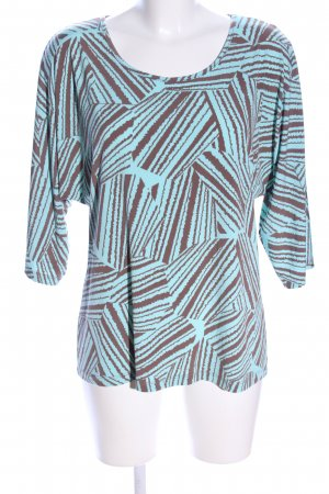 Kim & Co Print Shirt turquoise-brown allover print casual look