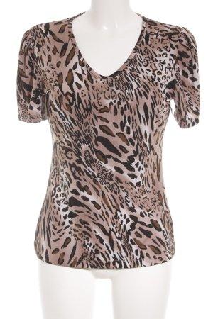 Kim & Co Print Shirt leopard pattern