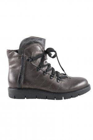Kim Kay London Ankle Boots braun Animalmuster Casual-Look