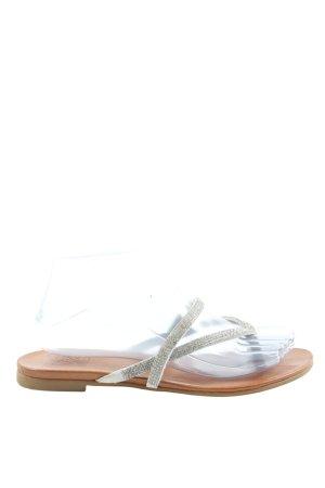 Kim Kay London Sandały japonki srebrny W stylu casual