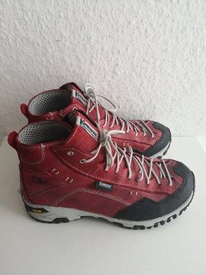 Kimberfeel Zapatos brogue negro-rojo oscuro