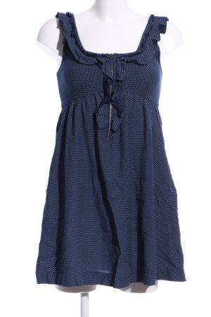 Kimchi Blue Blusenkleid blau-weiß Punktemuster Casual-Look