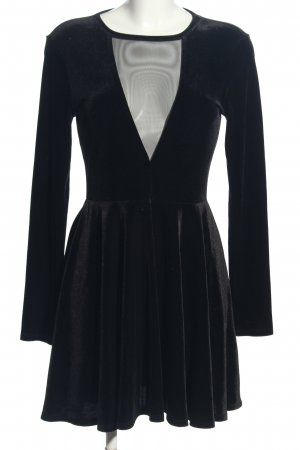 Kimchi Blue Longsleeve Dress black wet-look
