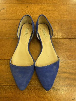Kiomi Slingback Ballerinas steel blue leather