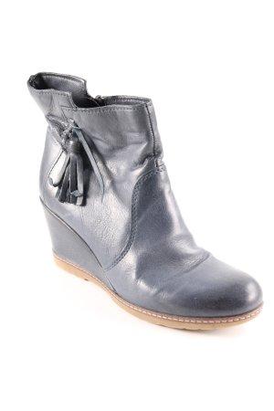 Kimkay Reißverschluss-Stiefeletten dunkelblau Street-Fashion-Look