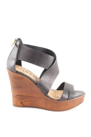Kimkay Wedges Sandaletten schwarz Casual-Look