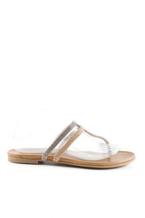 Kimkay Sandalo toe-post oro-argento stile casual
