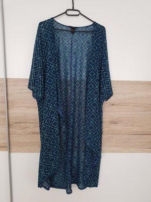 H&M Kimono dark blue-petrol