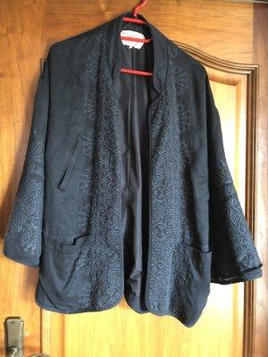 Zara Blazer en jersey noir-gris