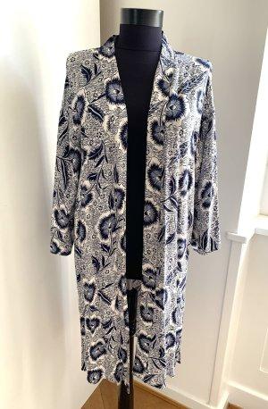 Primark Kimono blanco-azul oscuro