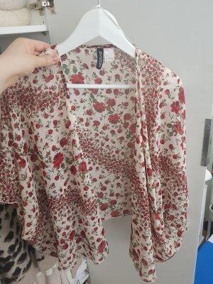 H&M Kimono beige chiaro-rosso scuro
