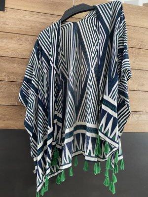 Kimono blanc-vert