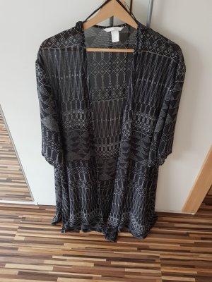 H&M Kimono white-black