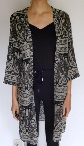 Influence Kimono czarny-jasnobeżowy