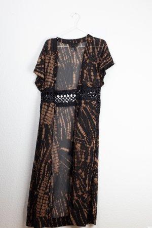 H&M Kimono nero-marrone-rosso