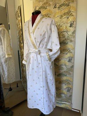 Gattina Kimono bianco-sabbia Cotone