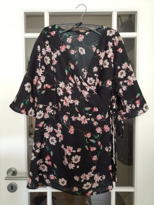 Yours Kimono Blouse black-pink