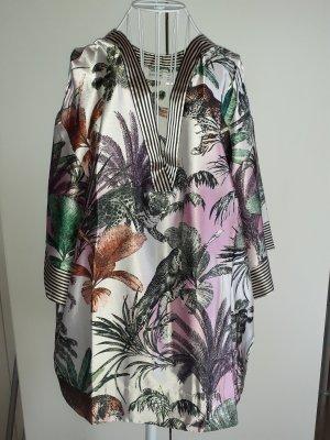 Kimono Bluse Blumen u. Tiere Gr. 46
