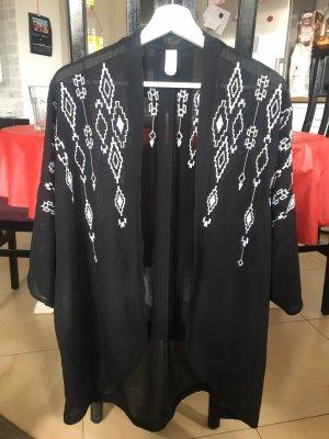 C&A Blusa kimono bianco-nero