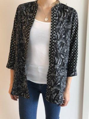 H&M Kimono Blouse black-white
