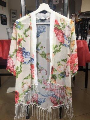 Kimono-Bluse mit Fransen