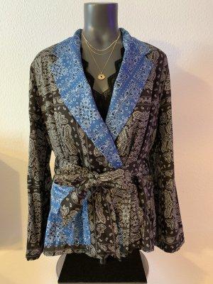 Zara Kimono Blouse black-blue