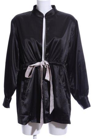 Kimono-Bluse schwarz Street-Fashion-Look
