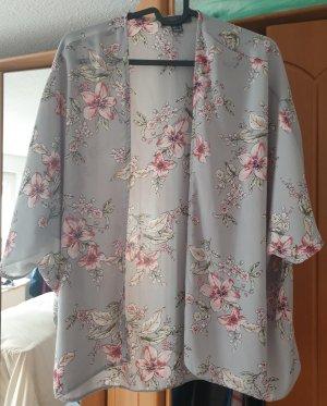 Atmosphere Kimono gris claro-rosa claro