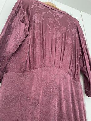 Zara Bluzka kimono szaro-liliowy-bladofiołkowy