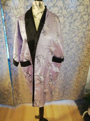 Kimono noir-lilas