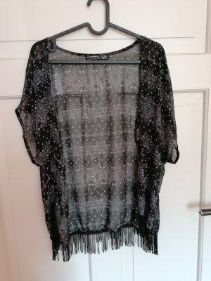 Kimono negro-gris antracita