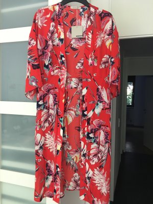 Active USA Blusa tipo kimono rojo