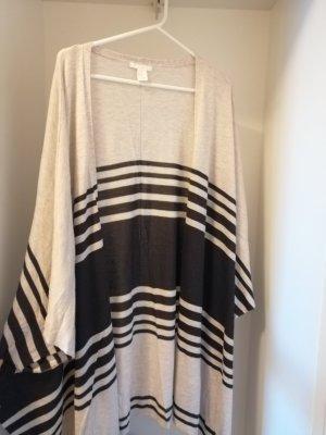 H&M Felpa kimono marrone scuro-beige chiaro