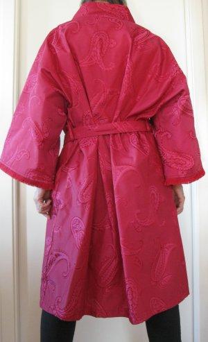 Unikat Einzelstück Kimono ciemnoczerwony Bawełna