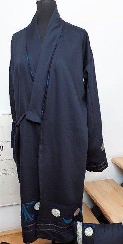 Kimono dark blue wool